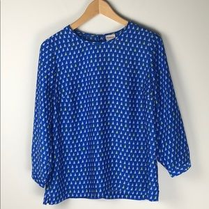 Merona Sail Boat Blouse in  Blue - Size Small
